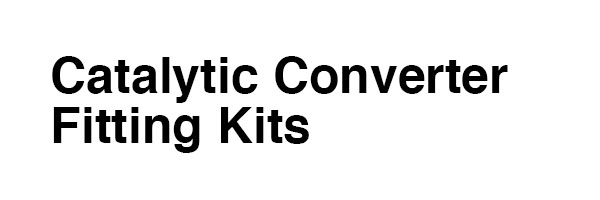 Catalytic Converter Fitting Kits